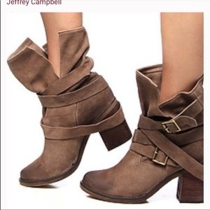 Jeffery Campbell Distressed Ibiza France Wrap Boot